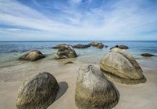 执行下来有岩石那里什么 免版税库存照片