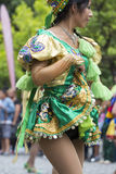 执行为萨尔塔,阿根廷狂欢节开头的舞蹈家  图库摄影