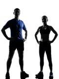 执行人妇女锻炼的夫妇 免版税图库摄影