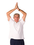 执行人成熟更旧的瑜伽 库存照片