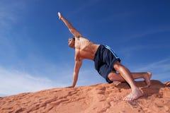 执行人瑜伽 免版税图库摄影