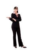 执行介绍妇女的亚洲商业 库存图片