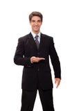 执行介绍的生意人 库存图片