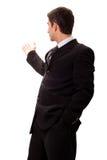 执行介绍的生意人 免版税库存照片