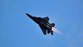 执行作战轮的F-15SG在NDP 2012年 库存照片