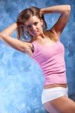 执行健身妇女年轻人 免版税库存照片