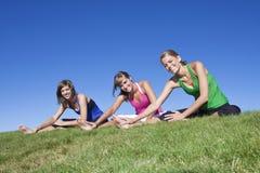 执行健身妇女 免版税库存图片