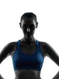 执行健身纵向的妇女 图库摄影