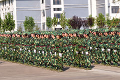 执行军事学员培训 免版税库存照片