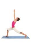 执行女子瑜伽 免版税库存图片