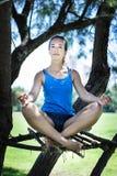 执行女子瑜伽 免版税库存照片