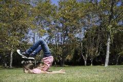 执行女孩体操非离子活性剂 库存图片