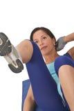 执行女孩的有氧运动 免版税库存照片