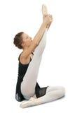 执行女性的舞蹈演员 免版税库存图片