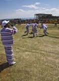 执行妇女的埃赛俄比亚的人新 免版税库存照片