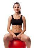 执行妇女锻炼 库存图片