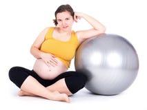 执行孕妇 库存图片