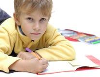 执行家庭作业 免版税库存图片
