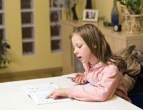 执行家庭作业 库存照片