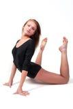 执行执行体操妇女年轻人 免版税库存图片