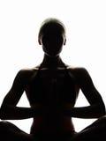 执行执行女子瑜伽年轻人 女孩健康体育运动 库存照片