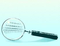 扩大化玻璃的例证 免版税库存照片