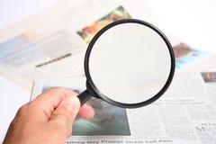 扩大化玻璃的现有量 免版税库存图片