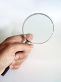 扩大化玻璃的现有量 免版税库存照片
