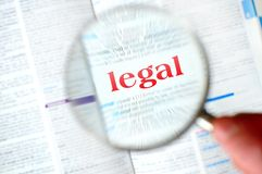 扩大化的法律词 免版税库存图片