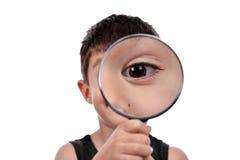 扩大化的眼睛 免版税库存图片