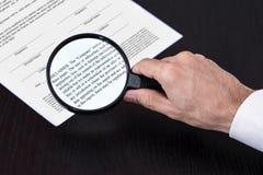 扩大化的类审查的脚注 免版税库存图片