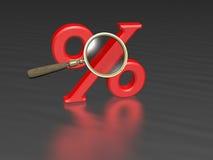 扩大化红色销售额的透镜 免版税图库摄影