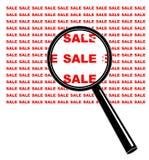 扩大化销售额 免版税库存照片