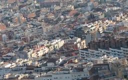 扩展区巴塞罗那高密度建筑地区  免版税库存图片