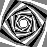 扩展从中心的黑色,白色和灰色镶边螺旋 深度和容量的视觉效果 适用于网络设计 免版税库存图片