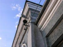 扩音器和灯笼 免版税库存图片