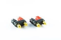 扩音器插座连接器终端 库存照片