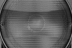 扩音器纹理黑钢滤栅  免版税图库摄影