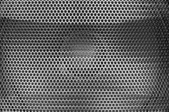 扩音器纹理黑钢滤栅  库存图片