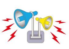 扩音器警报和警报器 向量例证