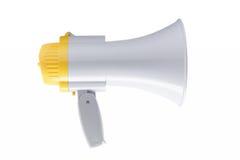 扩音机或手提式扬声机在白色背景 免版税库存照片