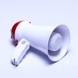扩音机报告人设备,白色红颜色,没有商标 图库摄影
