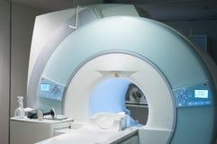 扫描器先生在医院 免版税库存照片