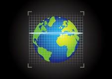 扫描地球 免版税库存图片