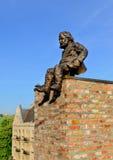 扫烟囱的人纪念碑在利沃夫州乌克兰 库存图片