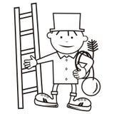 扫烟囱的人,彩图 免版税库存图片