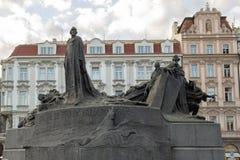 扬・胡斯纪念品,老城广场,布拉格,捷克 免版税库存照片