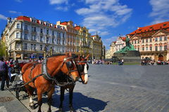 扬・胡斯,国家肖像馆,老大厦,老镇中心,布拉格,捷克的纪念碑 图库摄影