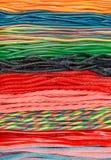 扭转的五颜六色的甘草精糖果 图库摄影