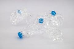 扭转的塑料瓶 库存照片